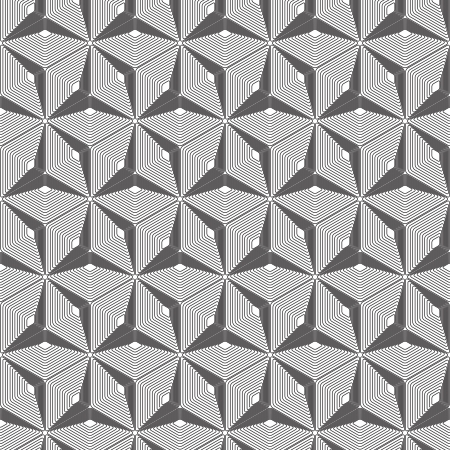 Diamond shape seamless pattern - abstract polygon geometric mosaic texture  Vector
