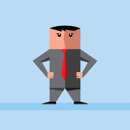 Boss standing Stock Vector - 15642936