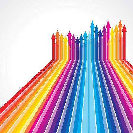 rosnąco: Wektor kolorowe strzałki