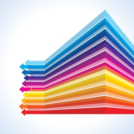 moving forward: Colored  vector arrows business concept Illustration