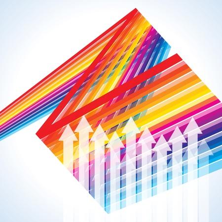Colored  vector arrows business concept Vector