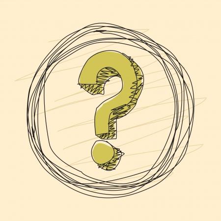 вопросительный знак: Вопросительный знак в круге Иллюстрация