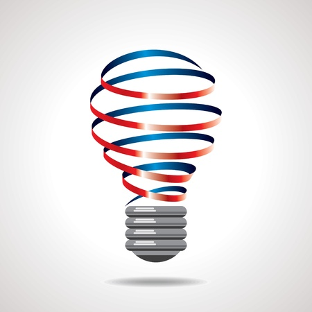 conceptual bulb: light bulb idea vector Illustration