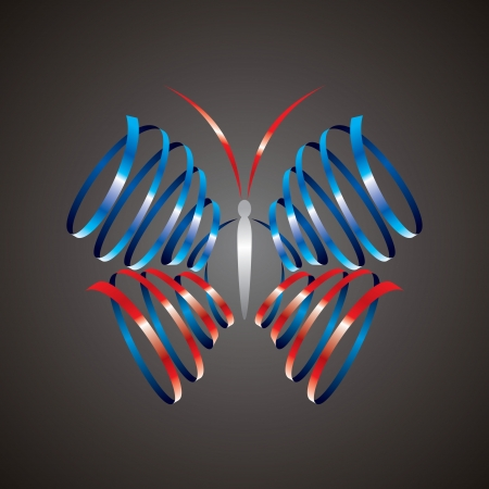 abstract form of butterfly Vector