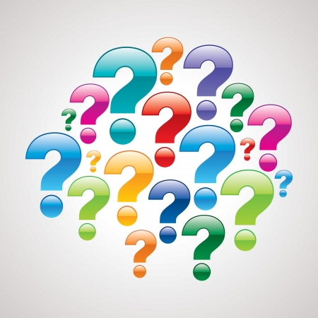 punto di domanda: punto interrogativo con sfondo bianco