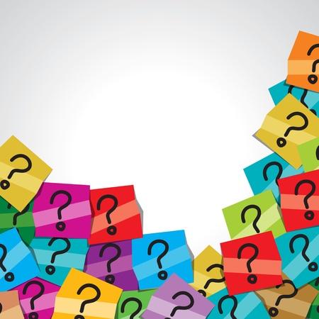 signo de interrogacion: pregunta colorida tag marca