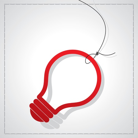 bulb with tag Vector