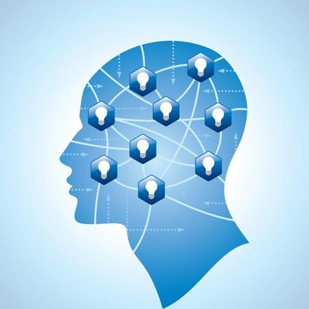 pensamiento creativo: las redes sociales con la idea y el pensamiento