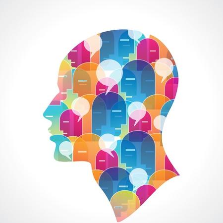 silueta con globo de diálogo Logos