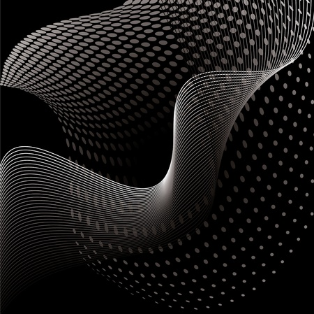 prospects: abstract smooth wave with dots