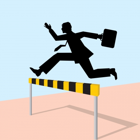 jumping man with black bag Stock Vector - 15947247