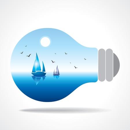 realistic eco bulb Stock Vector - 15947285