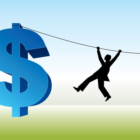 vector image of man with rope and a dollar sign Stock Vector - 15947301