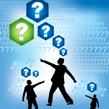 group of people with question mark Stock Vector - 15947322