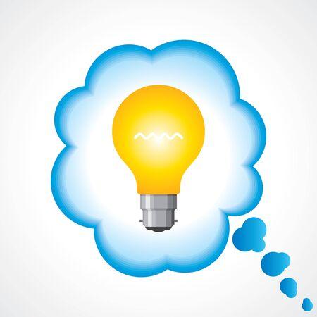 think big: illustration of idea bulb