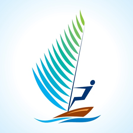 regatta: sailing symbol, sport series Illustration