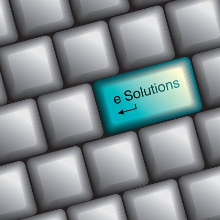 enter button: keyboard with solution key Illustration