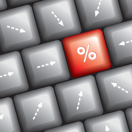 key board: computer key board with arrow key Illustration