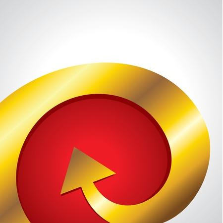 bent: golden bent arrow Illustration