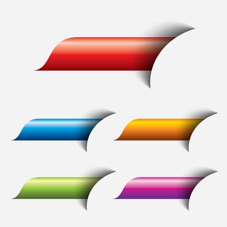 knop: set van gekleurde web knop Stock Illustratie