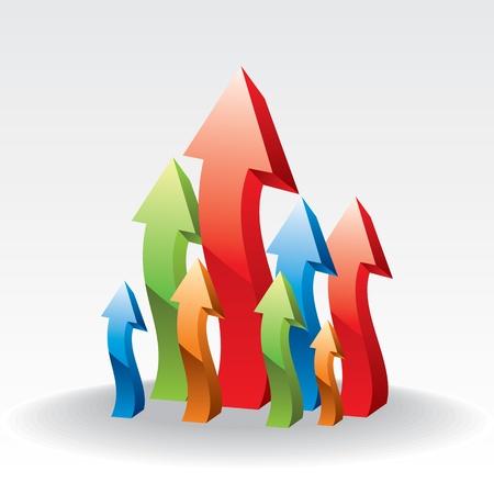 upward: vector upward arrows