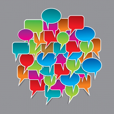 set of colorful speech bubbles Stock Vector - 17762434