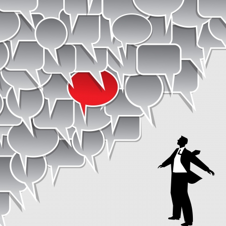 Businessman speech bubble Illustration