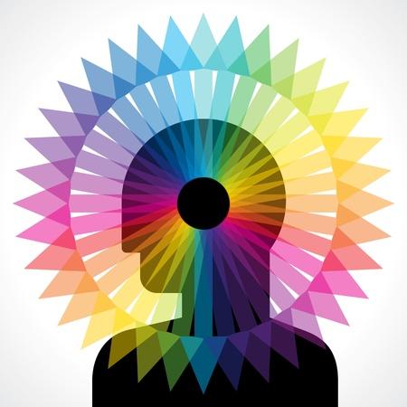 every: human head thinking every side