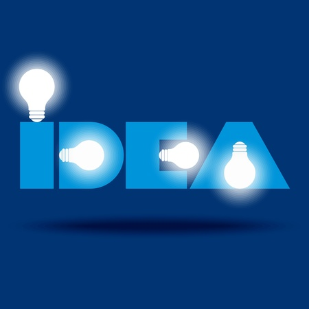 irradiation: Bulb idea made by typography