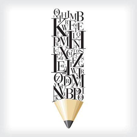 ceruzák: abc ceruza Illusztráció