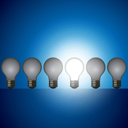 idea bulb set  leader concept Vector