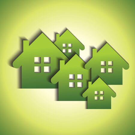 property investment: Green real estate concept Illustration