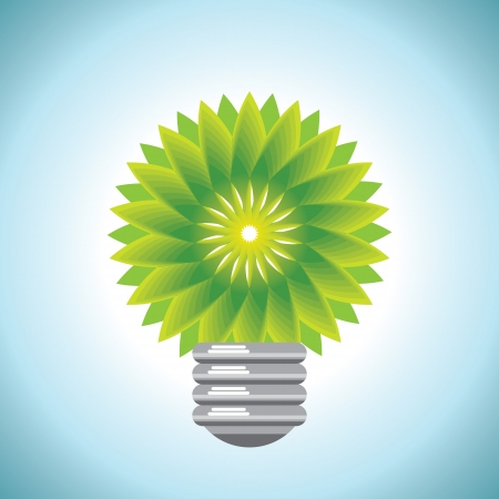 eco bulb idea Vector