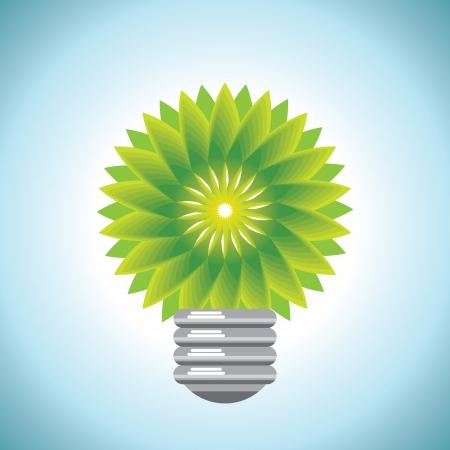 leaf water drop: eco bulb idea