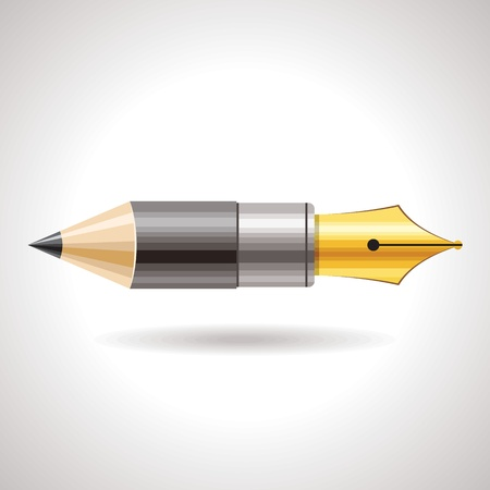 pen and pencil icon Vector