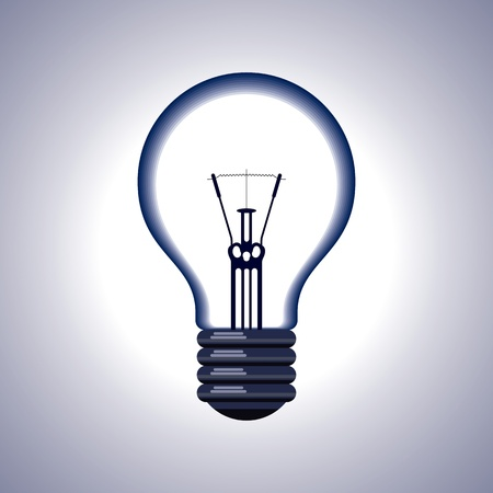 Realistic Light Bulb isolated on white Stock Vector - 17753577