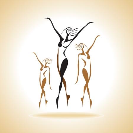 dancing girls Stock Vector - 17753416