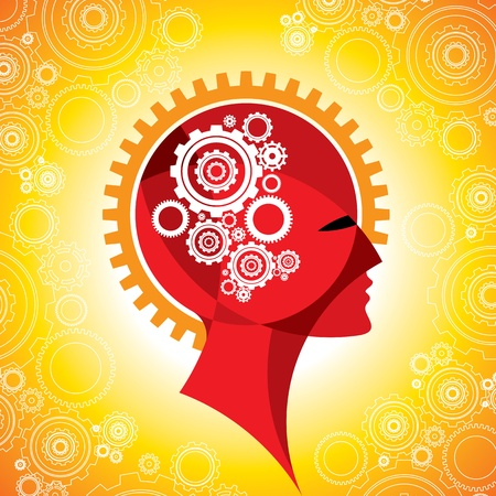 cogs and gear in human head Stock Vector - 17753177