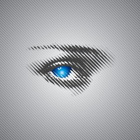 blue eye stock vector with halftone Vector