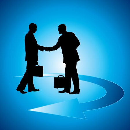 businessmen shaking hand Vector