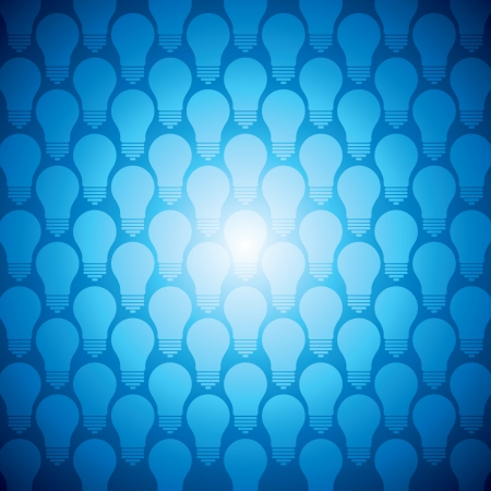 idea bulb set with blue background Vector