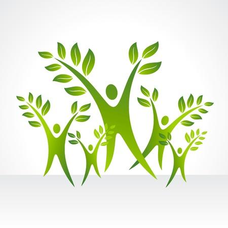 arbol geneal�gico: vector conjunto de personas ecol�gicos