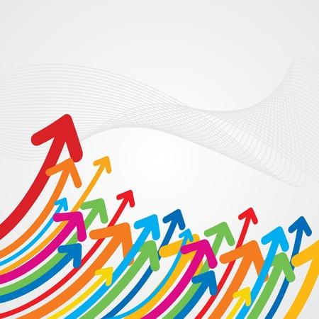 upward: upward colorful arrow