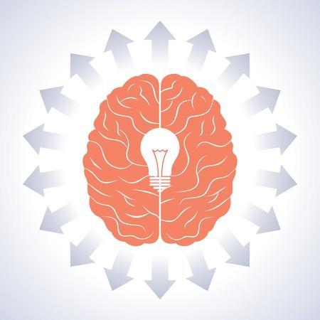 brain with great idea Stock Vector - 17730353