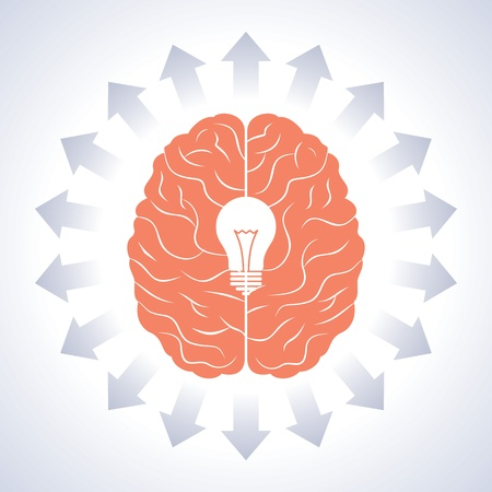 brain with great idea