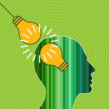 idea forward from human head Stock Vector - 17730243