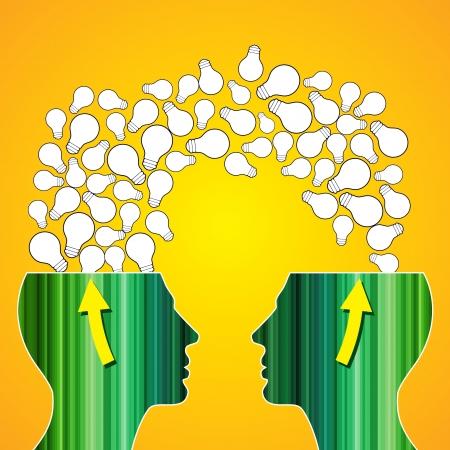 conquistando: concepto de la idea de cambio Vectores