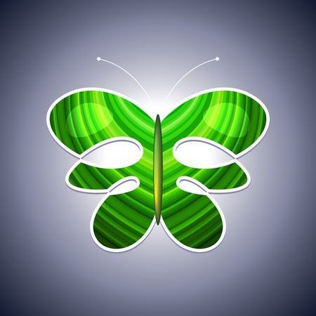 butterfly logo: Eco logo butterfly Illustration