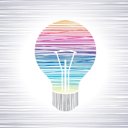 light bulb idea  Stock Vector - 17725798
