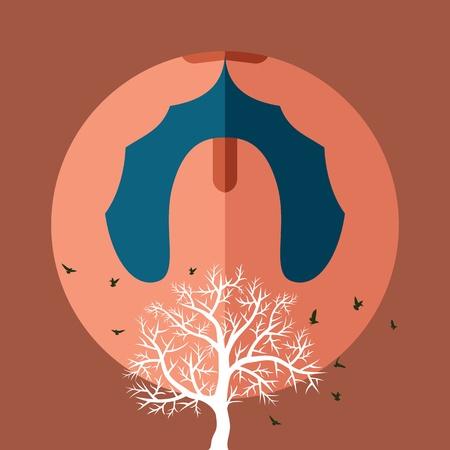greenpeace: save nature  Illustration